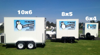 mobile cool room sizes
